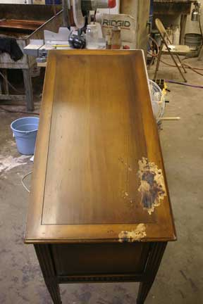 Burnt Sideboard Restoration